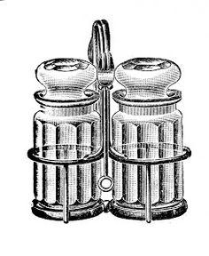 Vintage Vegetable Clip Art | Free vintage clip art images: Vintage salt and pepper clipart