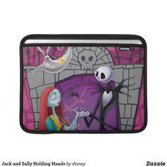 Jack Skellington y Sally que llevan a cabo las manos Fundas Para Macbook Air #fundas #sleeves #gifts
