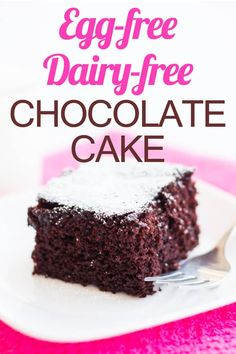 Need an amazing allergy-friendly dessert? This Egg-free Dairy-free Chocolate Cake is the perfect solution! Need an amazing allergy-friendly dessert? This Egg-free Dairy-free Chocolate Cake is the perfect solution! Egg Free Desserts, Egg Free Recipes, Cake Recipes, Dessert Recipes, Eggless Recipes, Delicious Desserts, Mug Cakes, Egg Free Cakes, Dairy Free Egg Free Cake