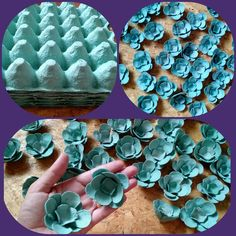 DIY :: Flowers with Egg Comb ! Cool Paper Crafts, Paper Flowers Craft, Flower Crafts, Diy Flowers, Diy Paper, Egg Carton Art, Egg Carton Crafts, Diy Crafts To Sell, Diy Crafts For Kids