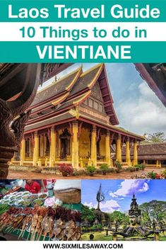Traveling to Laos soon? Here are 10 things to do in Vientiane and more Laos travel tips. This includes the Vientiane Night Market, temples and COPE visitor center. Travel Guides, Travel Tips, Travel Destinations, Stuff To Do, Things To Do, Bus Number, Laos Travel, Vientiane