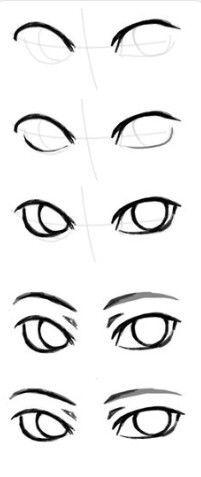 Drawing tutorial easy anime eyes 33 best Ideas anime drawing ideas t Easy Drawing Tutorial, Eye Drawing Tutorials, Sketches Tutorial, Drawing Tips, Art Tutorials, Drawing Ideas, Easy Eye Drawing, Drawing Drawing, Eye Tutorial
