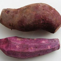 Sweet potatoes can be found in a range of colors, but one of the rarer forms in the U.S. is the purple sweet potato. While sweet potatoes are not native to Japan, the light and darker purple varieties were first produced there. Now some farmers in the U.S. grow purple sweet potatoes, but the orange color is typically the only kind found at supermarkets.