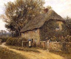 Old Cottage Newchurch ~ Helen Allingham ~ (English: 1848-1926)