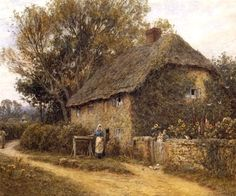 Old Cottage Newchurch ~ Helen Allingham ~ (English: 1848-1926)