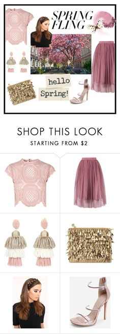 Spring Fling by rasheeda-moore on Polyvore featuring Glamorous, Forest of Chintz and Oscar de la Renta