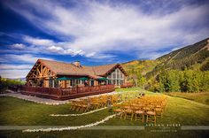 Beano's Cabin. Wedding venue in Beaver Creek, Colorado. Photo courtesy of Autumn Burke Photography. #mountainweddings