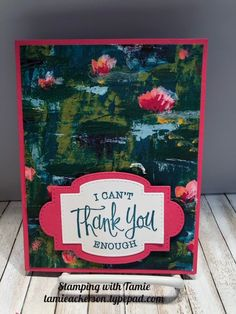 Tamie Ackerson, Stampin' Up Demonstrator, Card Tags, I Card, Bee Cards, Lily Pad, Card Tutorials, Crafty Projects, Stamping Up, Lilies, Stampin Up Cards