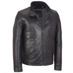 Big & Tall Wilsons Leather Contemporary Leather Jacket w/ Tab Collar & Thinsulate Lining