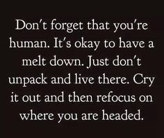 Don't forget you're human