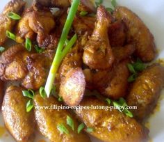 Chicken Wing Recipe  (Chicken Wings in Garlic Sauce) - See more at: http://www.filipino-recipes-lutong-pinoy.com/chicken-wing-recipe.html#sthash.mKBGF3vo.dpuf