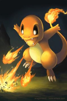 Attack Charmader.....aww cute little fire lizard!