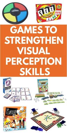 Best children's card games and board games to strengthen visual perception skills like visual memory, tracking, visual discrimination and more. Board Games For Couples, Family Board Games, Fun Board Games, Building Games For Kids, Indoor Activities For Kids, Learning Activities, Teaching Kids, Kids Learning, Really Fun Games