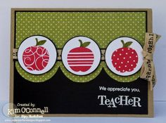 ISSC10 - Teacher Appreciation by MrsOke - Cards and Paper Crafts at Splitcoaststampers I like the color combinations.