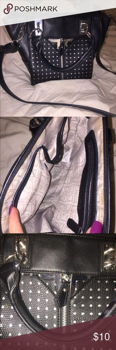 Black small purse Black purse from Nordstrom rack. Good condition. Inside had a little bit of stains but barely noticeable. Cleaned it up as best as I could✨ Danielle Nicole Bags Shoulder Bags