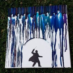 Harry Potter Canvas Art Set - Harry Voldemort Duel Crayon Art - Set of two .Harry Potter Canvas Art Set - Harry Voldemort Duel Crayon Art - Set of two . Harry Potter Diy, Harry Potter Kunst, Harry Potter Canvas, Harry Potter Painting, Harry Potter Wizard, Harry Potter Drawings, Crayons Fondus, Melting Crayons, Melting Crayon Canvas