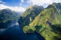 Hall Arm, Doubtful Sound, Fiordland National Park, South Island, New Zealand - aerial