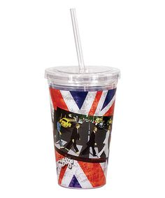 This Union Jack Abbey Road Straw Cup is perfect! #zulilyfinds