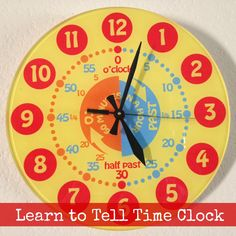 Learn to Tell Time Clock for Kids