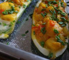 Mangofylld Zucchini