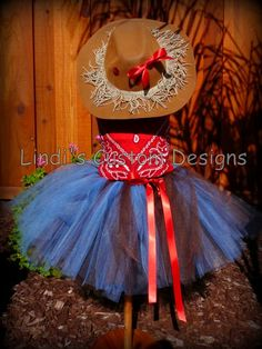"""Cowgirl Tutu Costume Ensemble for Toddlers up to 23"""" Chest Measurement for Pageants, Birthdays, or Dress Up. $70.00, via Etsy."""