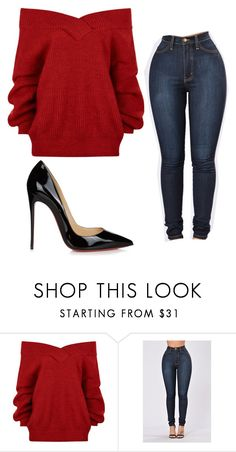 """""""Untitled #750"""" by lakesheia ❤ liked on Polyvore featuring Christian Louboutin"""