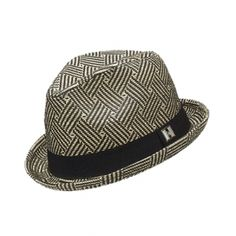 242974ae2fb Stoke straw fedora in black and natural with black hat band. 100% paper  straw