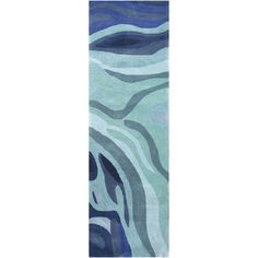 Found it at AllModern - Pigments Hand-Tufted Blue Area Rug