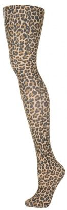 Leopard Print Tights - Vintage clothing from Rokit -