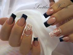 New Bridal Nails Gelish Ideas Cute Acrylic Nail Designs, Cute Acrylic Nails, Love Nails, Pretty Nails, Square Nail Designs, Gelish Nails, Neutral Nails, Elegant Nails, Bridal Nails