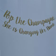 """She said, """"Yes"""", so pop a bottle of bubbly and let the party begin! This banner is perfect for a bachelorette party or engagement party and comes in any color. From Party At Your Door Bachelorette Weekend, Bachelorette Party Games, Bachelorette Party Quotes, Bachelorette Banner, Bridal Shower Party, Bridal Showers, Bridal Shower Quotes, Bridal Shower Banners, Ideas Party"""