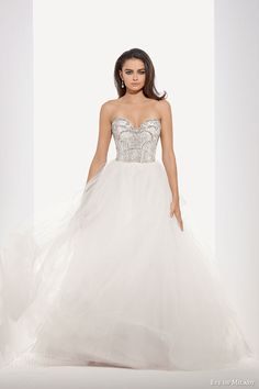 eve of milady fall 2014 2015 strapless sweetheart ball gown wedding dress embellished bodice 1546