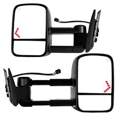 99 00 01 02 Silverado Sierra Mirror Pair Set Both NEW Power Black Paintable