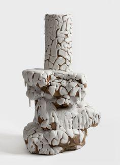White rocks no. 0802 Stoneware and glaze, hand built 57.5 x 51.5 x 36cm Photo Dorte Krogh  Bente Skjøttgaard