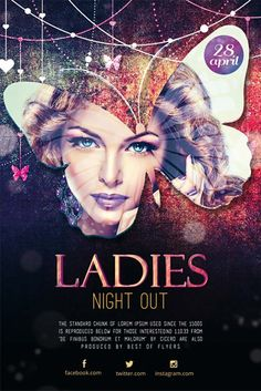 Ladies Night Out Free Flyer Template - http://freepsdflyer.com/ladies-night-out-free-flyer-template/ Enjoy downloading the Ladies Night Out Free Flyer Template by Bestofflyers! #Club, #Event, #Girls, #Ladies, #Lounge, #Party, #Summer