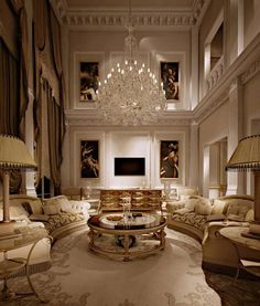 46 Luxury and Elegant Living Room Design - 2020 Home design Dream Home Design, Home Interior Design, Room Interior, Modern Interior, Mansion Interior, Interior Livingroom, Luxury Home Decor, Luxury Homes, Living Room Designs