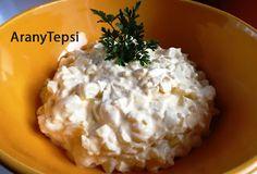 AranyTepsi: Szabolcsi krumplisaláta My Recipes, Mashed Potatoes, Grains, Dairy, Cheese, Ethnic Recipes, Food, Whipped Potatoes, Meal