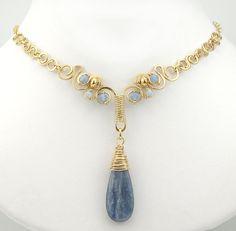 14k GF Wirework Kyanite Gemstone necklace