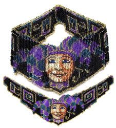 Teal Joker Weave Necklace Beading Pattern and Kit. (Click on picture to take you to this item on our website). $19.95