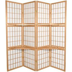 6' Tall Window Pane with Shelf Room Divider $175
