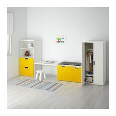 STUVA Rangement complet - blanc/jaune - IKEA