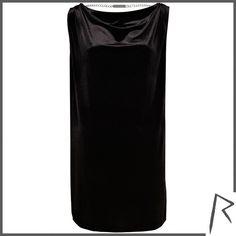 River Island Black Rihanna draped velvet t-shirt dress ($29) ❤ liked on Polyvore featuring dresses, sale, tshirt dress, black velvet dress, black party dresses, t shirt dress and tee shirt dress