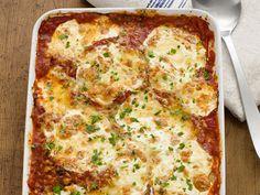 Portobello Parmesan recipe from Food Network Magazine via Food Network