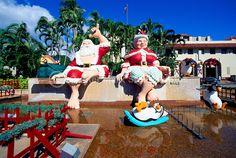 hawaiian santa decorations | Hawaiian-Christmas-Shaka-Santa-Claus-Honolulu-Hawaii-Pictures-Images ...