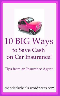 10 Ways to Save Money on Your Car Insurance- Tips From an Agent Insuran buying tips,how to buy insurance,financial planning Source by collegeinvestor Car Insurance Tips, Insurance Quotes, Insurance Marketing, Insurance Companies, Life Insurance, Dave Ramsey, Ways To Save Money, Money Saving Tips, Assurance Auto