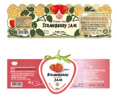 [Ai일러스트/패키지 Cookie Packaging, Food Packaging, Packaging Design, Chinese Element, Pots, Strawberry Jam, Food Labels, Illustrator Tutorials, Printing Labels