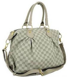 'LV' Damier Inspired Bag - a really popular style - and very practical as it has plenty of room. Designer Totes, Louis Vuitton Damier, Popular, Handbags, Tote Bag, Purses, Inspired, Room, Style