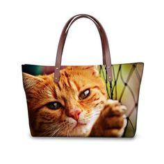 Multi-Design 3D Cute Cat Casual Top handle Bag