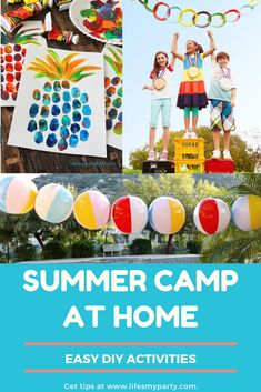 With school out, don't be stressed about what to do with the kids all summer! I partnered with some Camping Activites For Kids, Summer Camp Activities, Indoor Activities For Kids, Fun Activities, Kids Educational Crafts, Science Crafts, Educational Websites, Summer Camp Themes, Summer Camps For Kids