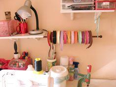 Organização de fitas #fitas #organização #artesanato
